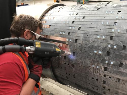Laserové čištění rotoru