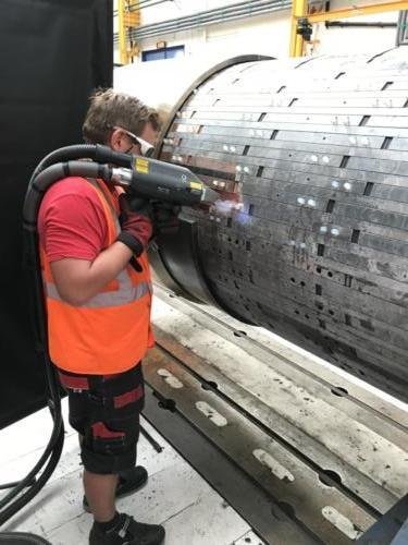 Laserové čištění rotoru2