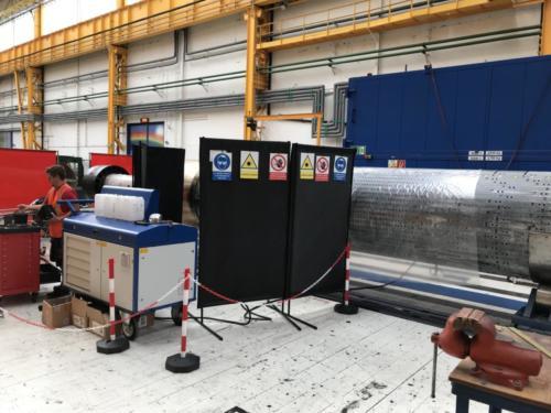 Příprava bezpečného pracoviště pro laserové čištění